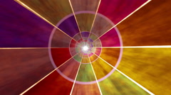 Rotating multi-colored mosaic Stock Footage