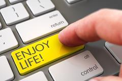 Enjoy Life on Keyboard Key Concept - stock illustration