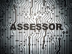 Insurance concept: circuit board with Assessor - stock illustration