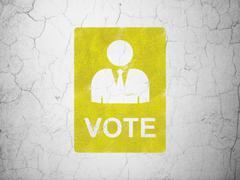 Politics concept: Ballot on wall background Stock Illustration