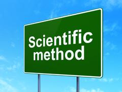 Science concept: Scientific Method on road sign background Stock Illustration