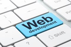 Web development concept: Web Development on computer keyboard background - stock illustration