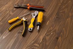 Necessary locksmith's tools - stock photo