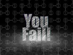 Business concept: You Fail! in grunge dark room Stock Illustration