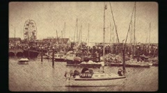 Boats in Scarborough harbor Stock Footage