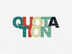 Money concept: Quotation on wall background - stock illustration
