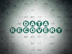 Data concept: Data Recovery on Digital Paper background - stock illustration
