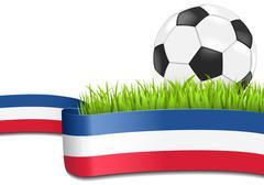 France soccer background Stock Illustration