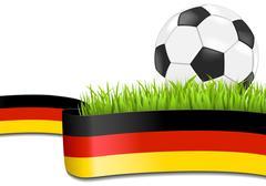 German soccer background Stock Illustration