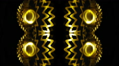 gold spin pattern abstract background wallpaper 4k - stock footage