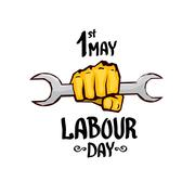 1 may - labour day. vector labour day poster Stock Illustration