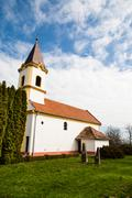 Beautiful catholic church - stock photo