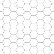 White hexagon seamless background. - stock illustration