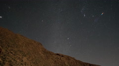 4k atlas mountains stars starlapse night sky astronomy - stock footage