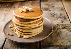 Original american pancakes - stock photo
