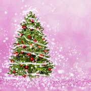 Christmas tree from the xmas lights Stock Photos