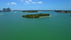 Aerial Flagler Memorial Island 4k Stock Footage