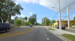 Driving to Coconut Grove 4k Stock Footage