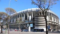 Santiago Bernabeu stadium in Madrid, Spain Stock Footage