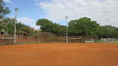 Baseball field in the park Stock Footage