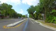 Driving on SW 27th Ave to Coconut Grove Stock Footage