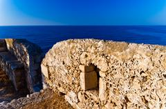 Fortezza fortress at Rethymno harbor, island of Crete Stock Photos