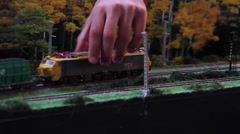 Spanish model of train transport coal Stock Footage