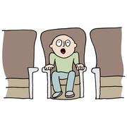 Stock Illustration of Amazed movie watcher