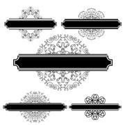 Set of Different Flourishes Stock Illustration