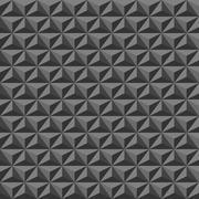 Black geometric texture, seamless Stock Illustration