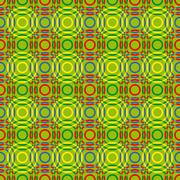 Seamless pattern with multicolour circles - stock illustration