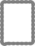Ornamental black frame with arc elements Stock Illustration