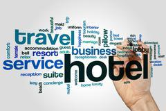 Hotel word cloud Stock Photos