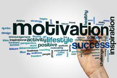 Motivation word cloud concept - stock photo