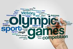 Olympic games word cloud - stock photo