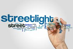 Streetlight word cloud - stock photo