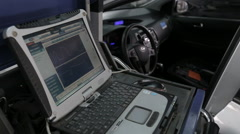 Car diagnostic computer tools - stock footage