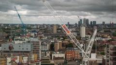 London city  skyline construction boom skyscrapers architecture 4k Stock Footage
