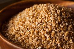 Raw Organic Whole Grain Cracked Wheat Stock Photos