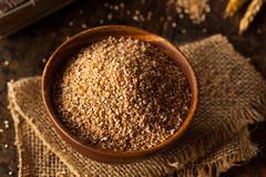 Raw Organic Whole Grain Cracked Wheat - stock photo