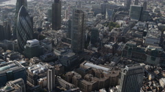 london city aerial helicopter flight urban skyline abstract 4k - stock footage