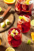 Homemade Fruity Spanish Red Sangria Stock Photos