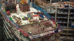 4k london city skyline construction boom skyscrapers architecture Stock Footage
