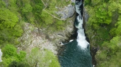 Carst river in deep george and caves - tilt down Stock Footage