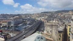 Genova Italy Harbour Stock Footage