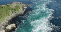 Saltstraumen norway water maelstrom nature Stock Footage