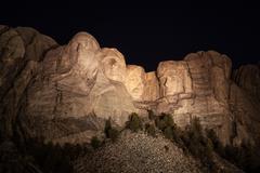 12 JULY, 2015. South Dakota Mount Rushmore National Memorial Stock Photos