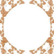 Nature Mosaic Motif Pattern - stock illustration