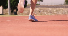 Close-up of woman running Stock Footage