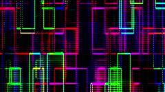 Led Illuminated Fractal Lines Running Background - stock footage